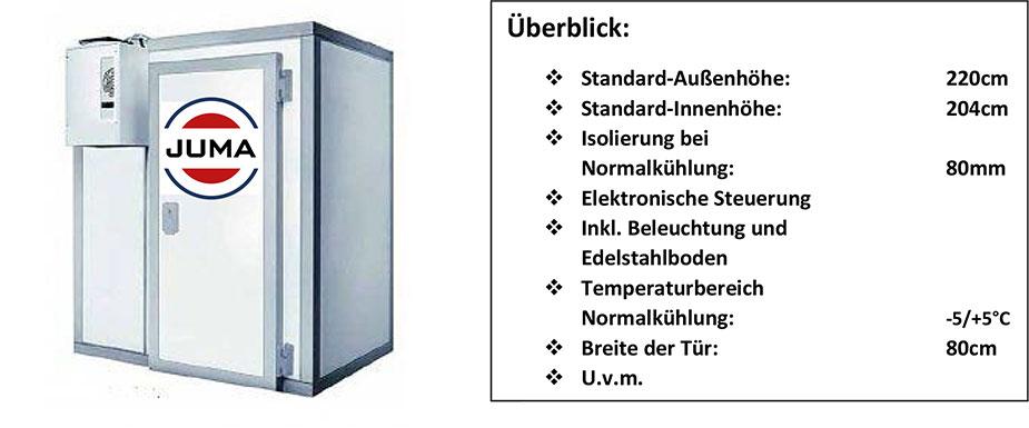 JUMA Kühlzellen Übersicht